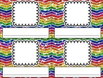 Rainbow Chevron Nameplates Name Plates Tags Desk