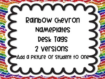 Rainbow Chevron Nameplates Name Plates Tags Desk