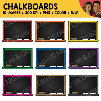 Rainbow Chalkboard Clipart