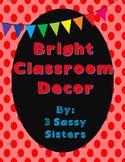Rainbow Chalkboard Complete Classroom Decor Set
