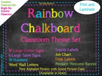 Rainbow Chalkboard- Full Collection