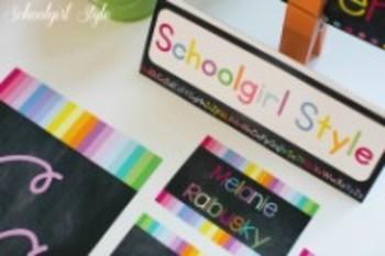 Classroom Decor-Rainbow Chalkboard Multipurpose Labels
