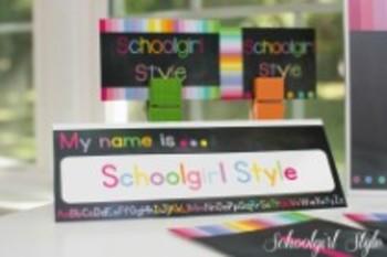 Classroom Decor-Rainbow Chalkboard Nameplates