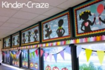 Classroom Decor-Rainbow Chalkboard Pennants