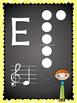 Rainbow Chalkboard Recorder Fingering Chart Posters