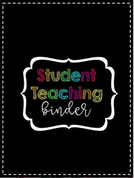 Rainbow Chalkboard Student Teaching Binder