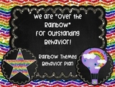 Rainbow Chalkboard Themed Behavior Management Plan Classroom Contract