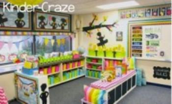 Classroom Decor-Rainbow Chalkboard Tree Branch Silhouettes