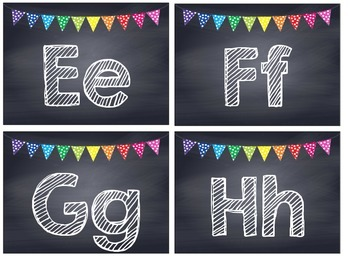 Rainbow Polka Dot Chalkboard Word Wall Headers