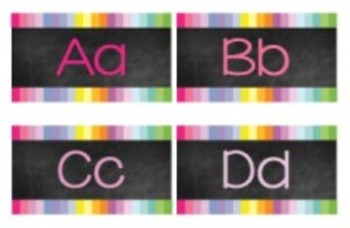 Classroom Decor-Rainbow Chalkboard Word Wall Labels