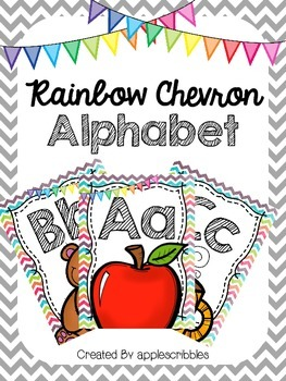 Rainbow Chevron Alphabet