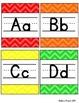 Rainbow Chevron Alphabet