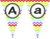 Rainbow Chevron Alphabet Banner Flags
