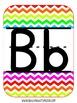 Rainbow Chevron Alphabet Cards {Primary Level}