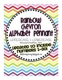 Rainbow Chevron Alphabet Pennant (+Numbers!)