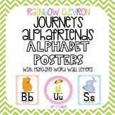 Rainbow Chevron Alphabet Posters and Word Wall Letters Journeys Alphafriends
