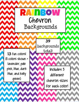 Rainbow Chevron Backgrounds