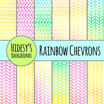 Rainbow Chevron Backgrounds Backgrounds / Patterns / Digital Papers