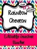 Rainbow Chevron Binder Covers! Over 120 types!