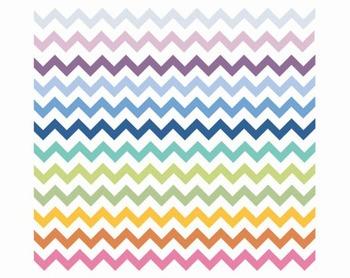 Rainbow Chevron Borders, Clip Arts, Set #122