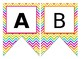Rainbow Chevron Bright Neon Themed Editable Bulletin Board Banner