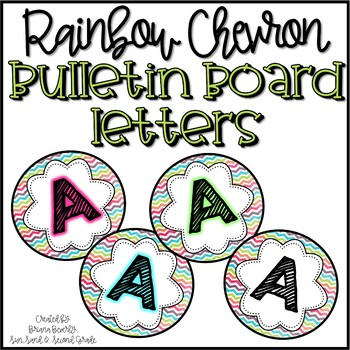 Rainbow Chevron Bulletin Board Letters