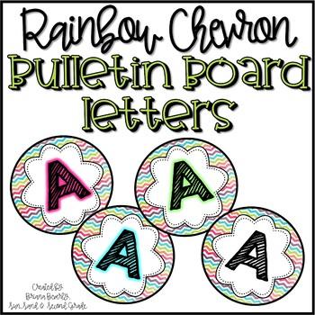 Rainbow Chevron Bulletin Board Letters