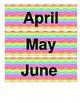 Rainbow Chevron Calendar Pieces