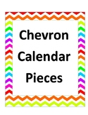 Rainbow Chevron Calendar Pieces