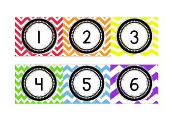 Rainbow Chevron Calendar Set