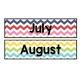 Rainbow Chevron-Calendar Set