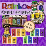 Rainbow Chevron Candy Labels