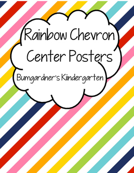 Rainbow Chevron Center Posters