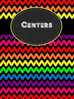Rainbow Chevron Centers Binder
