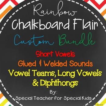 Rainbow Chevron & Chalkboard Custom Bundle