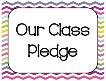 Rainbow Chevron Class Pledge Posters