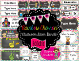 Rainbow Chevron Decor Mega Bundle (Editable Growing Bundle)