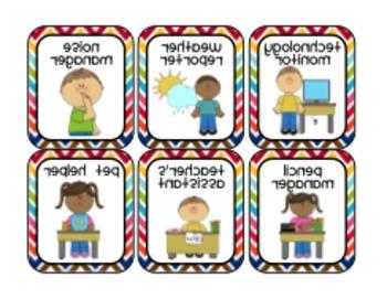 Rainbow Chevron Classroom Decor Pack