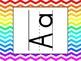 Rainbow Chevron Classroom Decor (labels, schedule signs, ABC lines, etc.)