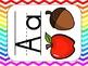 Rainbow Chevron Classroom Decor (labels, schedule signs, A