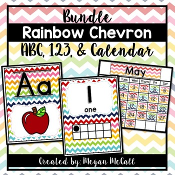 Rainbow Chevron Classroom Decoration BUNDLE!