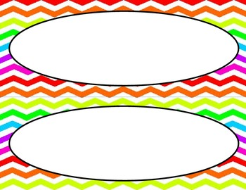 Rainbow Chevron Classroom Labels