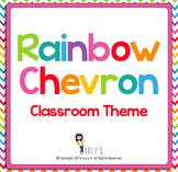 Rainbow Chevron Classroom Theme