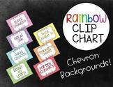 Rainbow Chevron Clip Chart