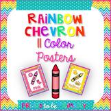 Rainbow Chevron Color Posters