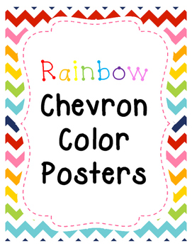 Rainbow Chevron Color Posters  FULL PAGE!