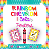 Rainbow Chevron Color Posters