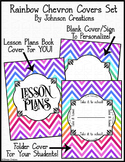 Rainbow Chevron Covers Set