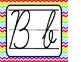 Rainbow Chevron Cursive Alphabet