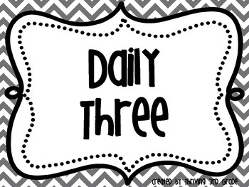 Rainbow Chevron Daily 3 Math Signs